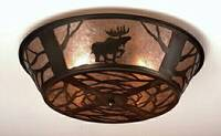 Meyda Tiffany Moose 4-Light Flush Mount