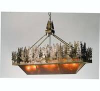 Meyda Tiffany Pine Lake Oblong Inverted Pendant