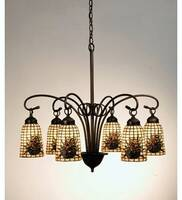 Meyda Tiffany Pinecone 6-Light Chandelier