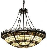 Meyda Tiffany Shell 4-Light Inverted Pendant