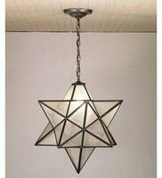 Meyda Tiffany Moravian Star Pendant - Clear Texture