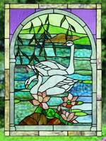 Meyda Tiffany Swans Window