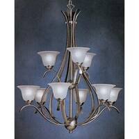 Kichler Dover 9-Light 2-Tier Chandelier - Brushed Nickel