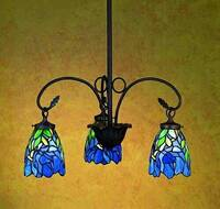 Meyda Tiffany Iris 3-Light Chandelier