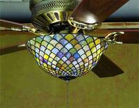Meyda Tiffany Fishscale Fanlight Fixture