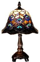Meyda Tiffany Peacock Feather Mini Lamp