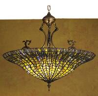 Meyda Tiffany Fishscale Inverted Chandelier