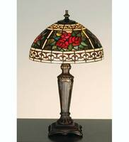 Meyda Tiffany Roses & Scroll Mini Lamp