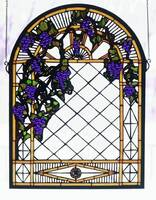 Meyda Tiffany Grape Diamond Trellis Window