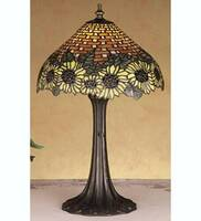Meyda Tiffany Wicker Sunflower Accent Lamp