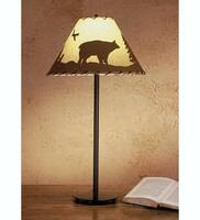 Meyda Tiffany Bear In The Woods Painted Table Lamp