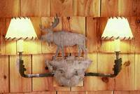 Meyda Tiffany Moose And Rawhide 2-Light Wall Sconce - Ivory