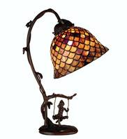 Meyda Tiffany Fishscale Cherub Accent Lamp