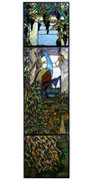 Meyda Tiffany Peacock 3-piece Window Art Glass