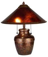 Meyda Tiffany Amber Mica Antique Lamp