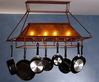 Meyda Tiffany Plain Frame Pot Rack