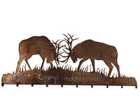 Meyda Tiffany Battling Elk Coat Rack