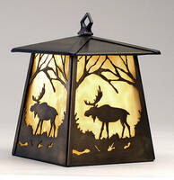 Meyda Tiffany Hanging Moose Lantern