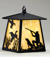 Meyda Tiffany Hanging Hunter & Dog Lantern