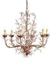 Currey & Company Crystal Bud Chandelier Medium