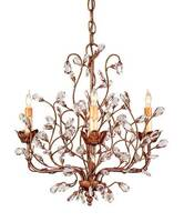 Currey & Company Crystal Bud Chandelier small