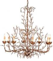Currey & Company Crystal Bud Chandelier Large